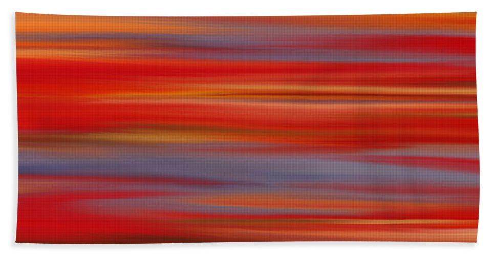 Abstract Bath Sheet featuring the digital art Evening In Ottawa Valley by Rabi Khan