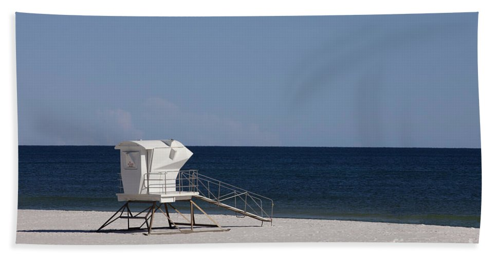 Bath Sheet featuring the photograph Lifeguard Station by Anthony Totah