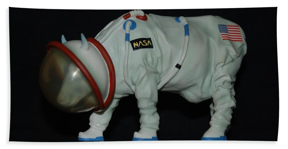Astronauts Hand Towel featuring the photograph Maurice The Space Cow Boy by Rob Hans