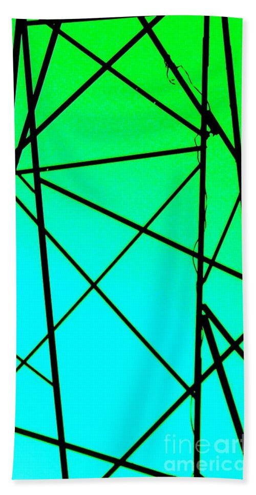 Metal Bath Sheet featuring the photograph Metal Frame Abstract by Eric Schiabor