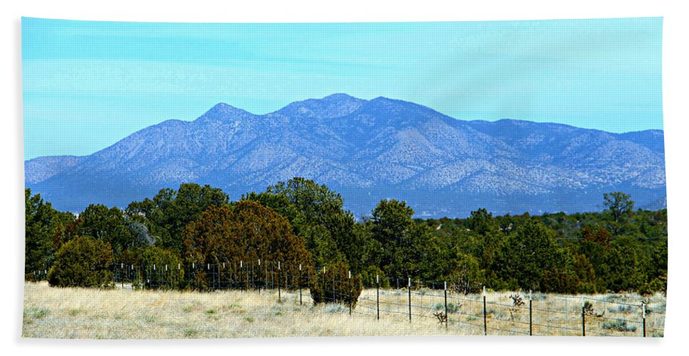 New Mexico Mountains Hand Towel featuring the photograph New Mexico Mountains by Kathy M Krause