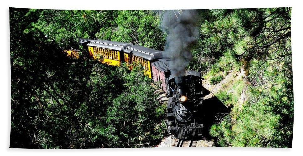 Train Bath Sheet featuring the photograph Nostalgic Moments by Carol Milisen