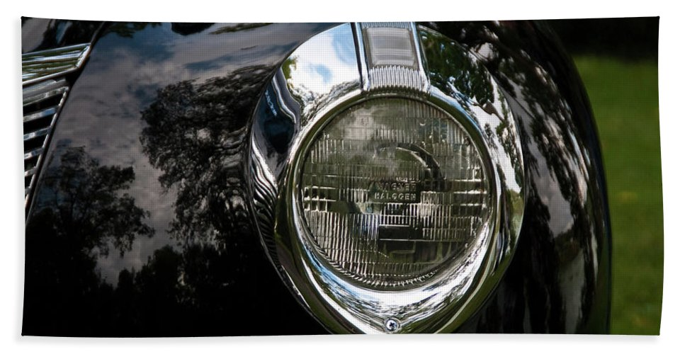 Antique Car Hand Towel featuring the photograph One Eye 13128 by Guy Whiteley