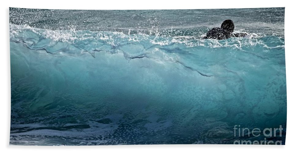 Surfer Hand Towel featuring the photograph Surf Starter, Kekaha Beach by Debra Banks