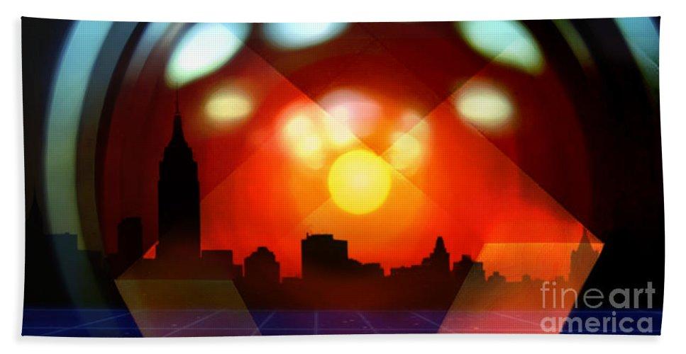 Futurism Hand Towel featuring the digital art The Omniscient Optics by Scott Smith