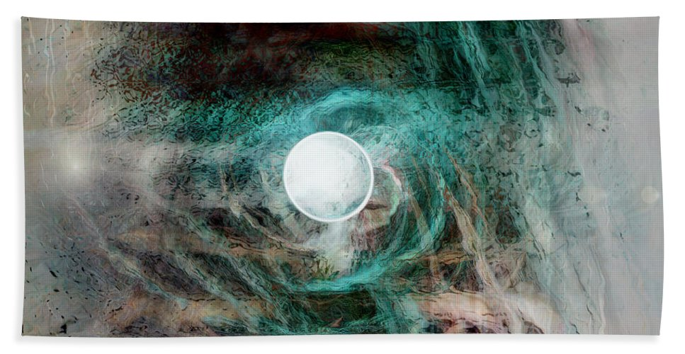 Space Art Hand Towel featuring the digital art The Singularity by Linda Sannuti