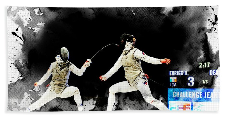 Women's Foil Hand Towel featuring the photograph The World Cup Women's Foil 2 by Jean Francois Gil