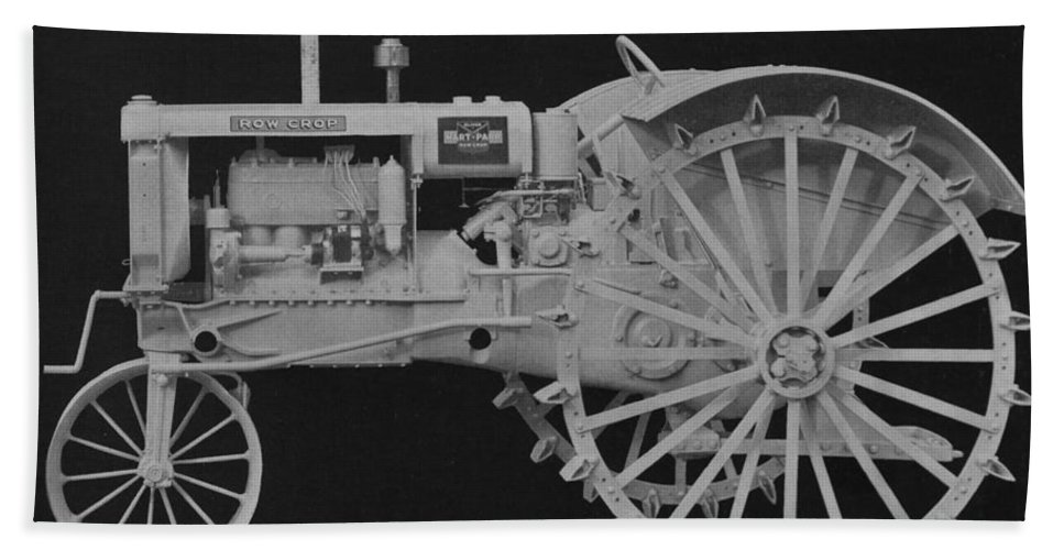 Farming Bath Towel featuring the photograph Tractor by American School