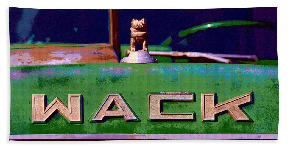 Truck Hand Towel featuring the photograph Wack Truck by William Jobes