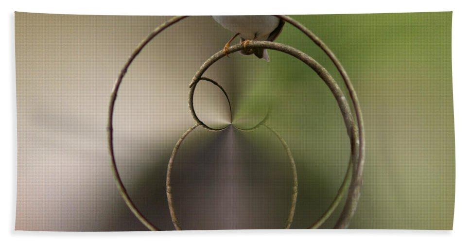 Lehtokukka Hand Towel featuring the photograph Wood Warbler by Jouko Lehto