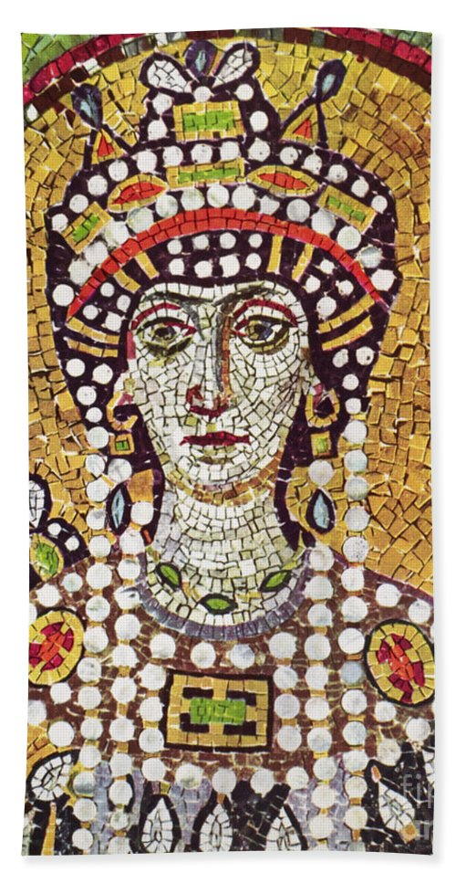 6th Century Hand Towel featuring the painting Theodora (c508-548) by Granger