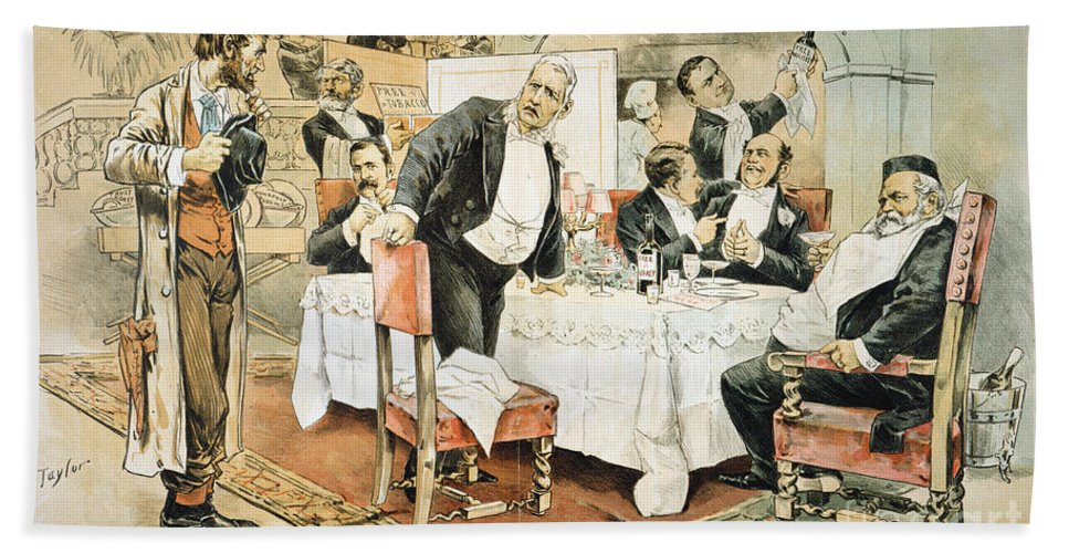 1888 Hand Towel featuring the painting Populist Movement by Granger