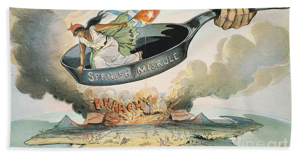 1898 Hand Towel featuring the painting Spanish-american War, 1898 by Granger
