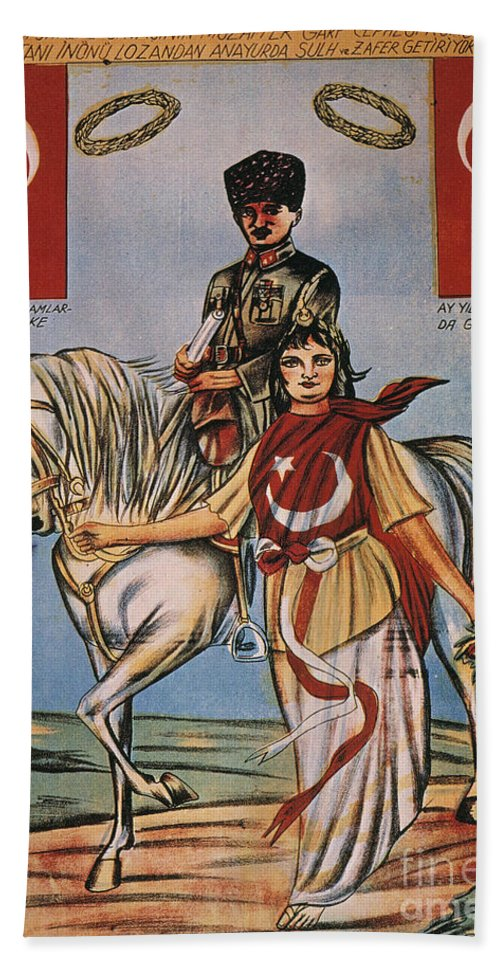 1920s Hand Towel featuring the painting Republic Of Turkey: Poster by Granger