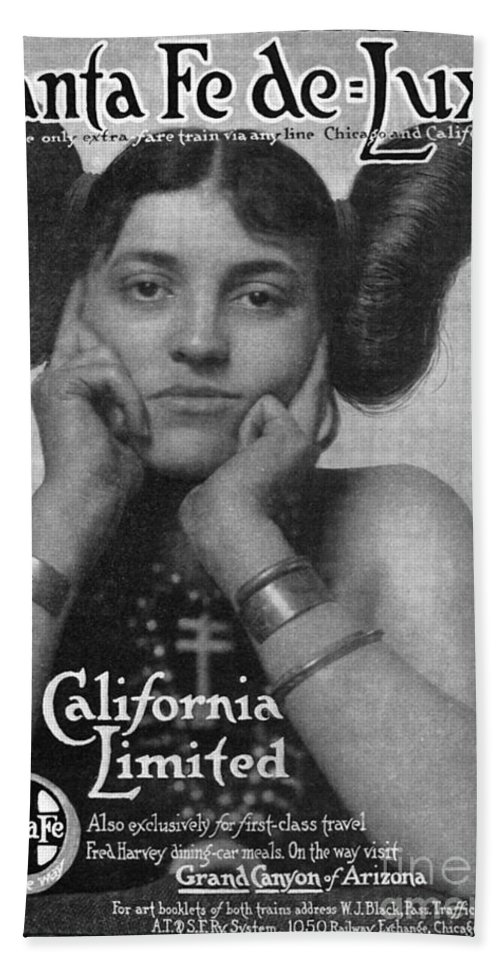 1911 Hand Towel featuring the photograph Hairstyle: Hopi, 1911 by Granger