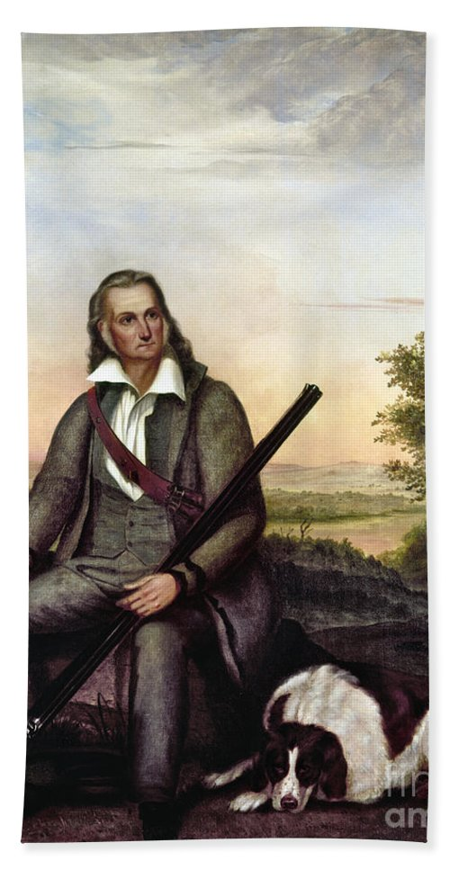 1841 Hand Towel featuring the painting John James Audubon by Granger