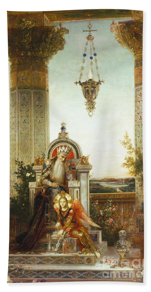 19th Century Hand Towel featuring the painting Moreau: King David by Granger