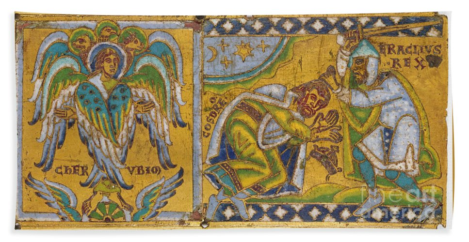 13th Century Hand Towel featuring the painting Heraclius (c575-641 A.d.) by Granger