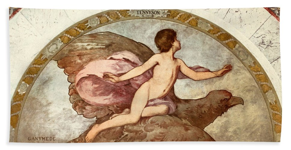 1901 Hand Towel featuring the painting Ganymede, C1901 - To License For Professional Use Visit Granger.com by Granger