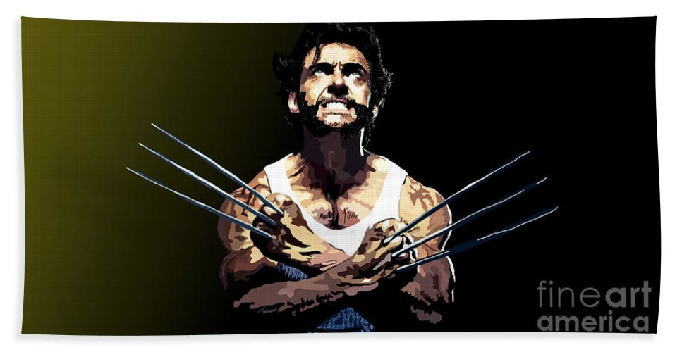 Tamify Bath Sheet featuring the painting 029. Adamantium by Tam Hazlewood