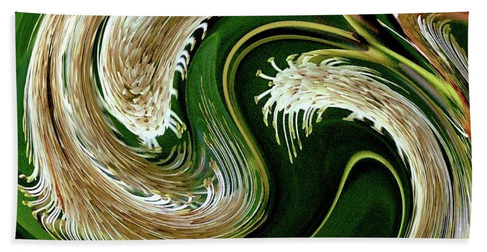 Hand Towel featuring the digital art 04-4b001 by Bill Monroe