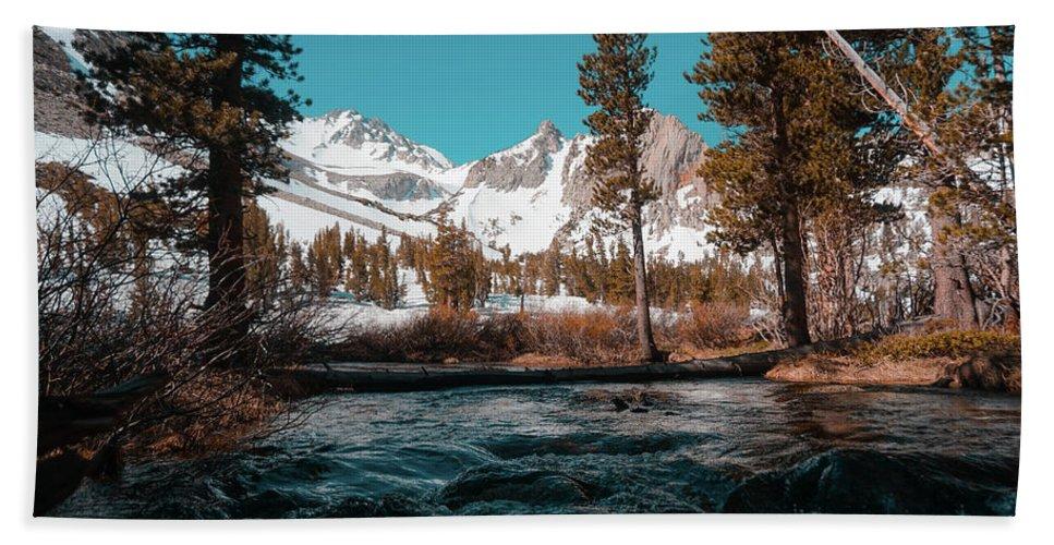 River Bath Sheet featuring the photograph 05/28/2017 by Joshua Hernandez