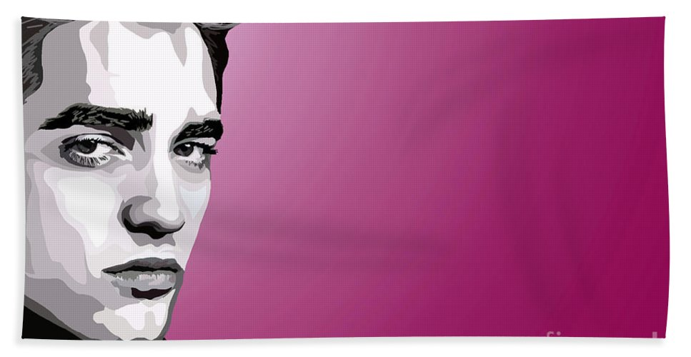 Tamify Hand Towel featuring the painting 052. Real Men Sparkle by Tam Hazlewood