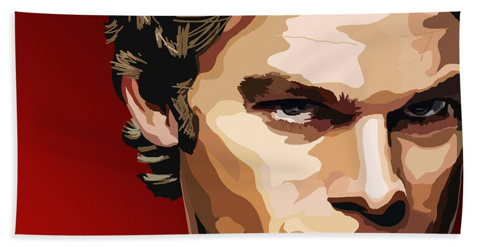 Tamify Hand Towel featuring the painting 062. The Dark Passenger by Tam Hazlewood