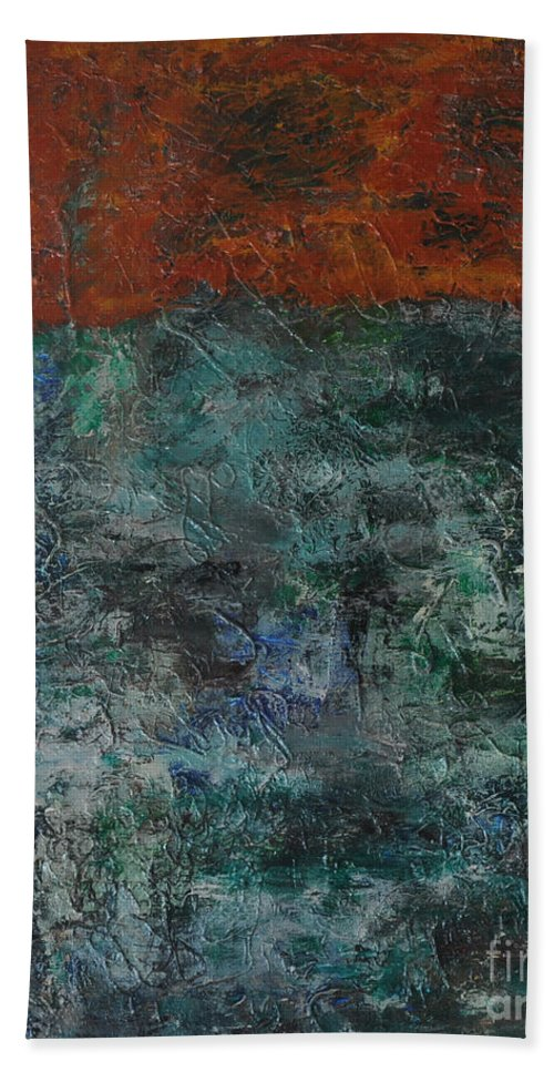 Abstract Hand Towel featuring the painting 068 Abstract Thought by Chowdary V Arikatla