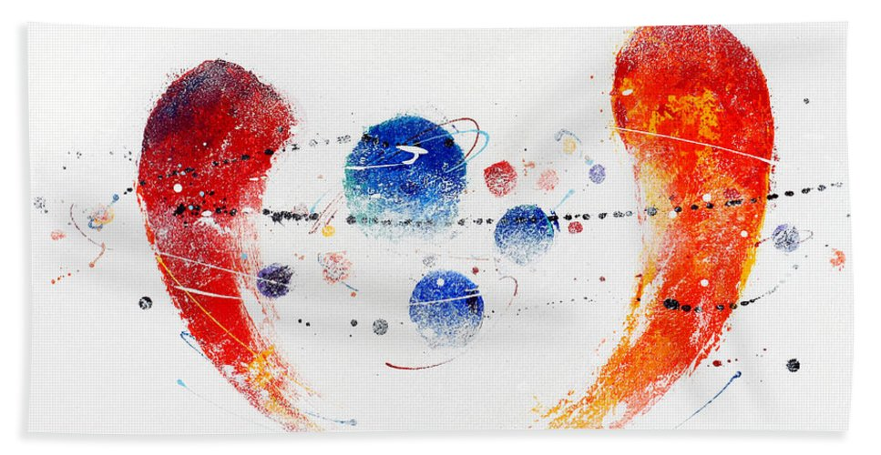 Painting Hand Towel featuring the painting 090825 by Toshio Sugawara