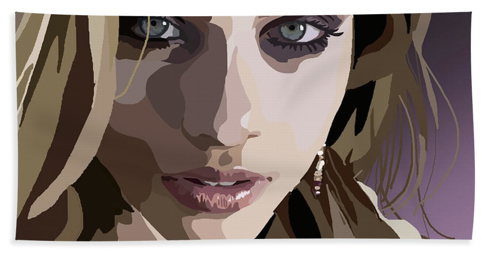 Tamify Hand Towel featuring the digital art 092. I Don't Think I Can Be Good by Tam Hazlewood