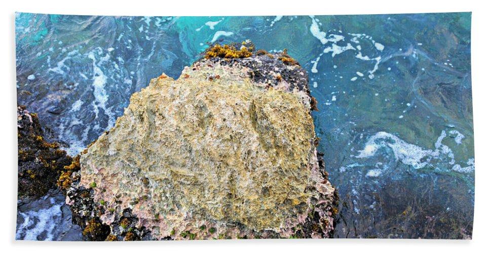 Ocean Bath Sheet featuring the photograph Sea Rocks by F Schiele