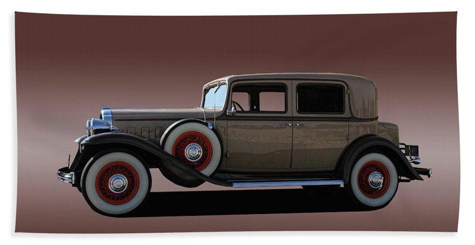 1932 Bath Sheet featuring the photograph 1932 Classic Buick 4 Door Sedan by Nick Gray