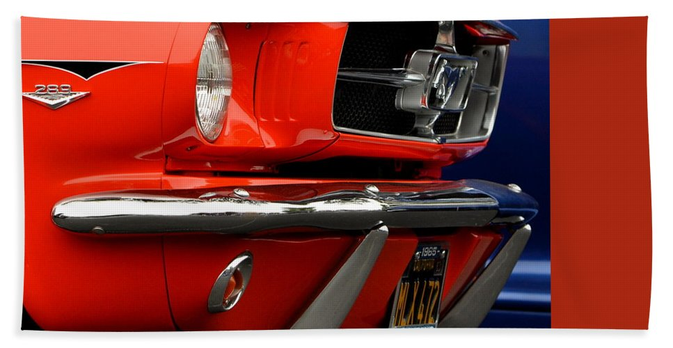 Bath Sheet featuring the photograph 66 Mustang Fastback by Dean Ferreira