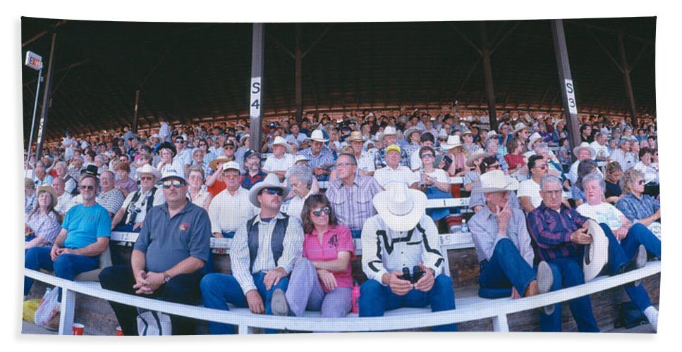Photography Bath Sheet featuring the photograph 75th Ellensburg Rodeo, Labor Day by Panoramic Images