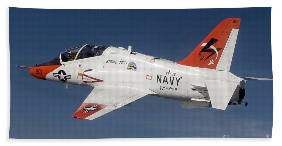 Test Hand Towel featuring the photograph A T-45c Goshawk Training Aircraft by Stocktrek Images