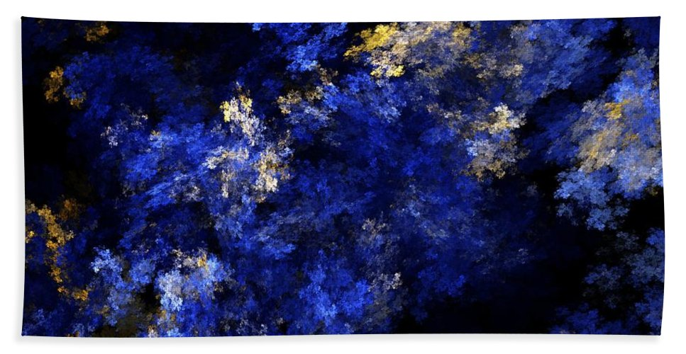 Abstract Digital Painting Bath Towel featuring the digital art Abstract 11-18-09 by David Lane