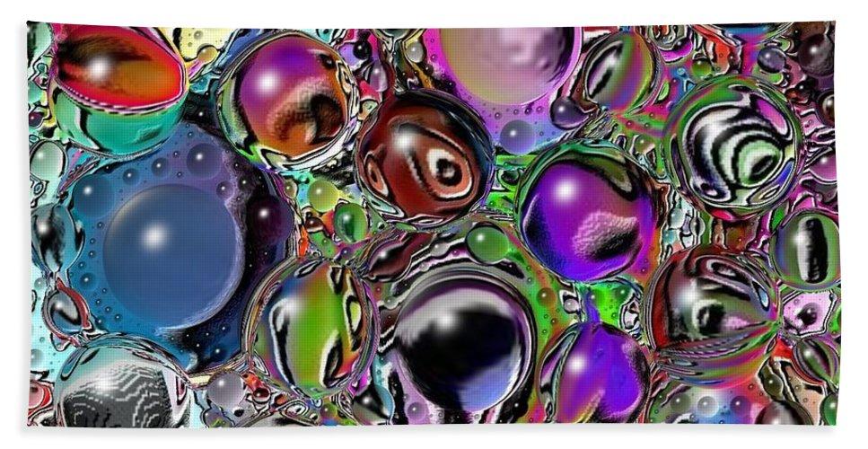Digital Art Hand Towel featuring the digital art Abstract 62316.5 by Belinda Cox