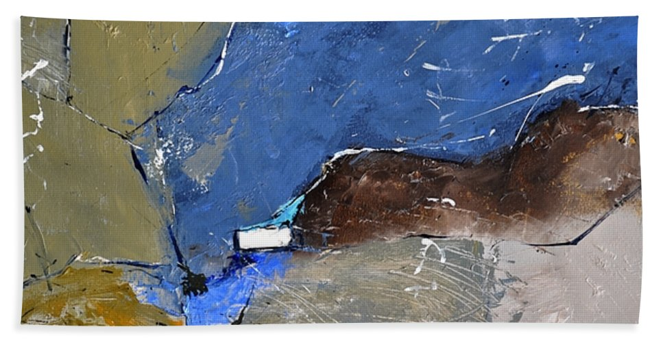 Abstract Bath Sheet featuring the painting Abstract by Pol Ledent