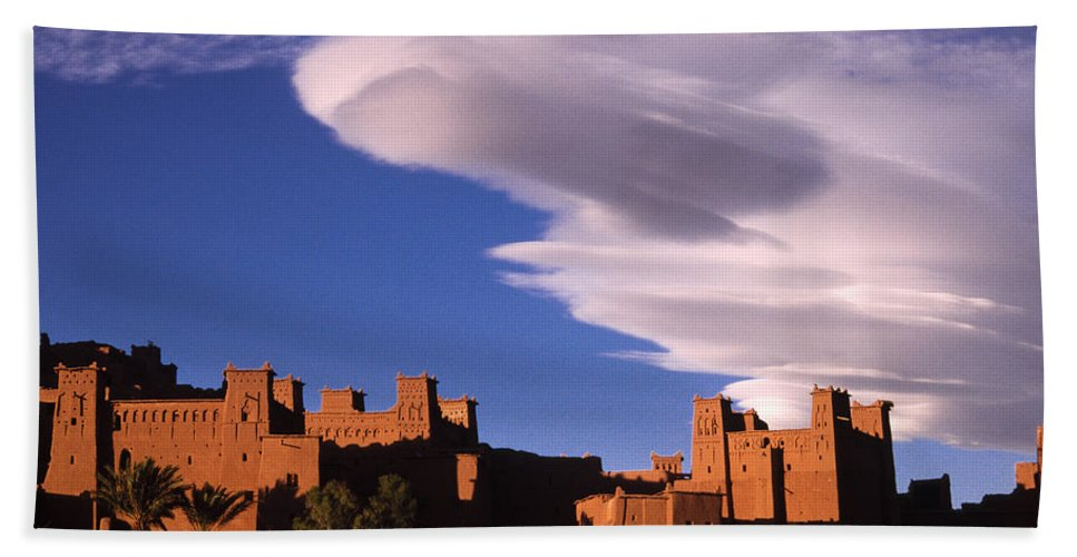 North Africa Hand Towel featuring the photograph Ait Benhaddou Casbah by Michele Burgess