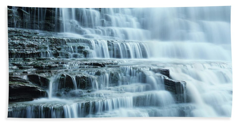 Waterfall Bath Towel featuring the photograph Albion Falls by Maxim Images Prints
