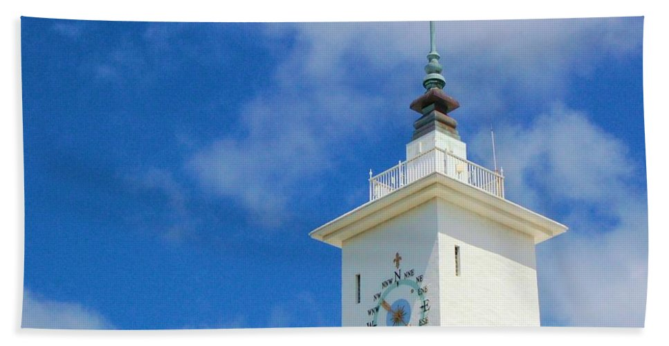 Clock Bath Towel featuring the photograph All Along The Watchtower by Debbi Granruth