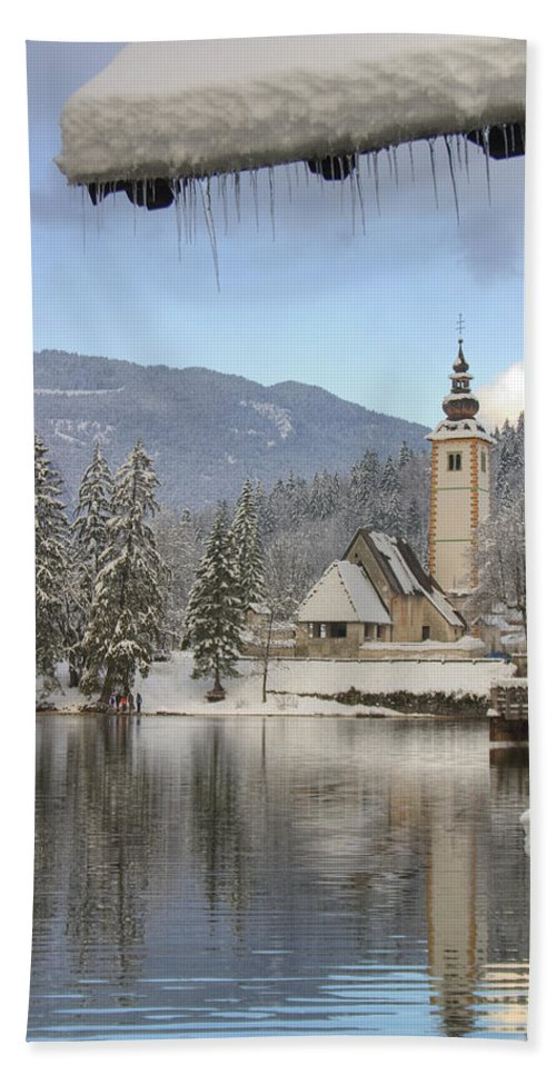Bohinj Bath Sheet featuring the photograph Alpine Winter Clarity by Ian Middleton