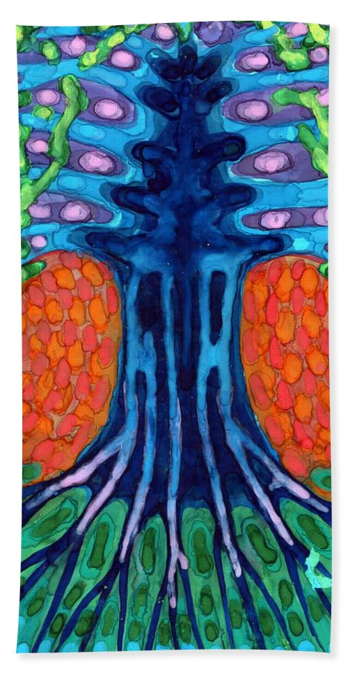 Colour Hand Towel featuring the painting Always Young by Wojtek Kowalski