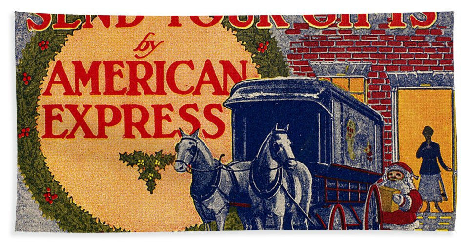 1917 Hand Towel featuring the photograph American Express Shipping by Granger
