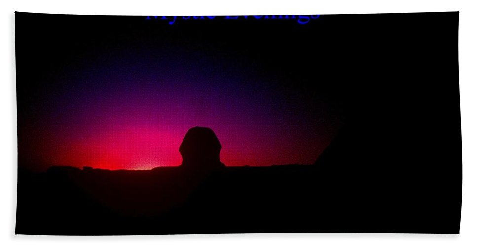 Sphinx Hand Towel featuring the photograph Ancient Evenings by Gary Wonning