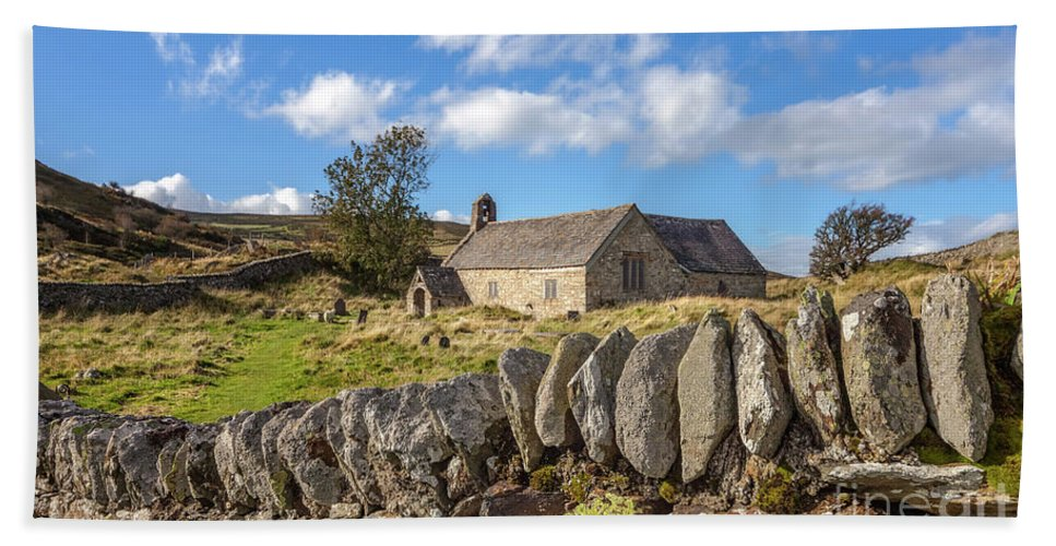 Welsh Church Bath Towel featuring the photograph Ancient Welsh Church by Adrian Evans