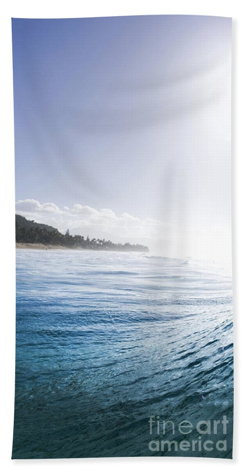 Wave Hand Towel featuring the photograph Aqua Ramp - Triptych Part 2 Of 3. by Sean Davey