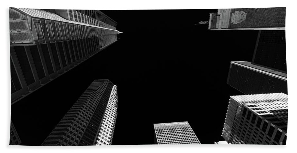 Architecture Bath Sheet featuring the photograph Architecture Black White by Chuck Kuhn