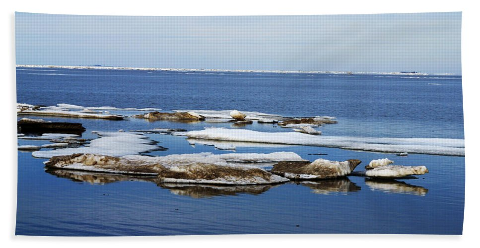 Ice Hand Towel featuring the photograph Arctic Ice by Anthony Jones
